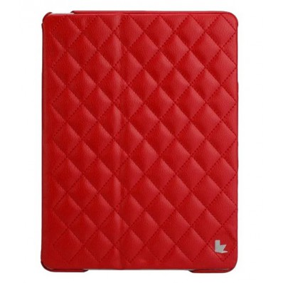 Стеганый чехол-книжка Jison Case Quilted Leather Smart Case для iPad Air - красный