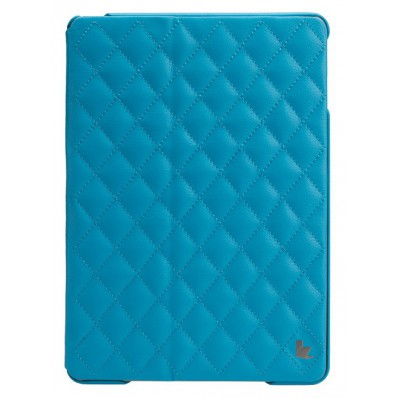 Стеганый чехол-книжка Jison Case Quilted Leather Smart Case для iPad Air - бирюзовый