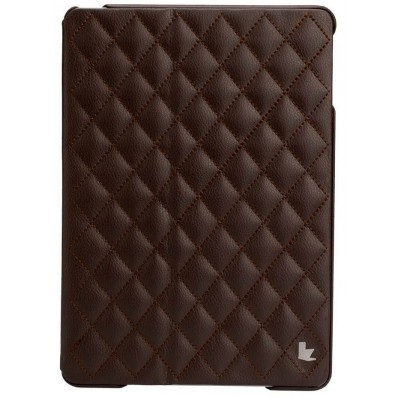 Стеганый чехол-книжка Jison Case Quilted Leather Smart Case для iPad Air - коричневый