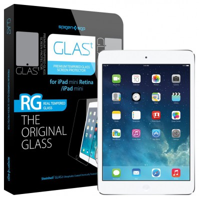 "Олеофобное защитное стекло SGP Oleophobic Coated Tempered Glass Series ""Glas T"" на экран iPad mini / Retina дисплеем"