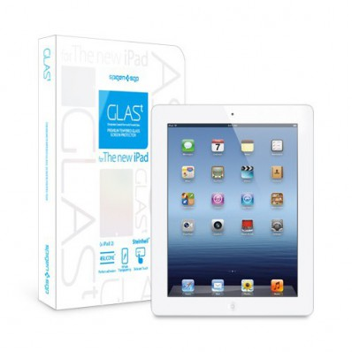 "Олеофобное защитное стекло SGP Oleophobic Coated Tempered Glass Series ""Glas T"" на экран iPad 4 и iPad 3"