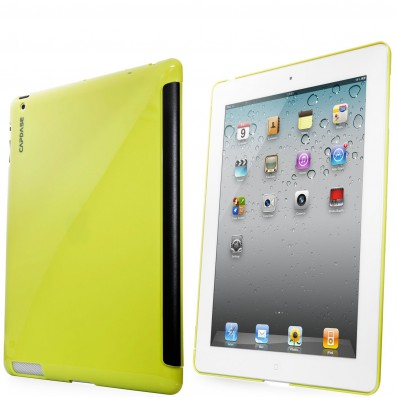 Ультротонкая накладка Capdase Karapace Jacket Case Polishe для iPad 4, iPad 3 - салатовая