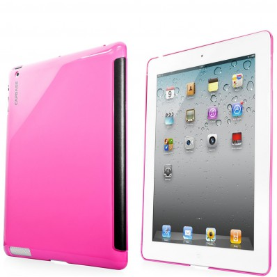 Ультротонкая накладка Capdase Karapace Jacket Case Polishe для iPad 4, iPad 3 - малиновая