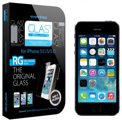 "Защитное олеофобное стекло SGP Oleophobic Coated Tempered Glass Nano Slim ""Glas TR"" для iPhone 5, 5C, 5S"