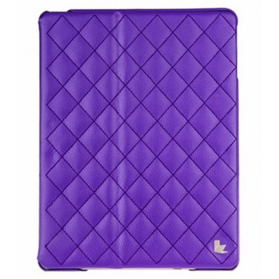 Стеганый чехол-книжка Jison Case Quilted Leather Smart Case для iPad Air - фиолетовый