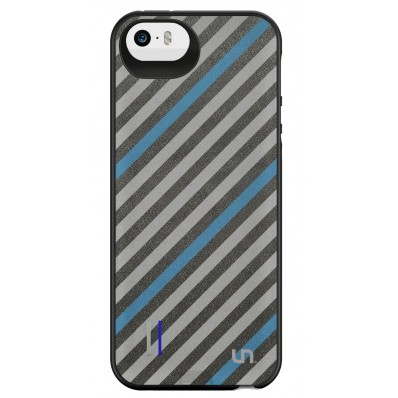 Чехол-аккумулятор Uncommon Power Gallery для iPhone 5, 5S - Grey Blue Tie (2200 мАч)