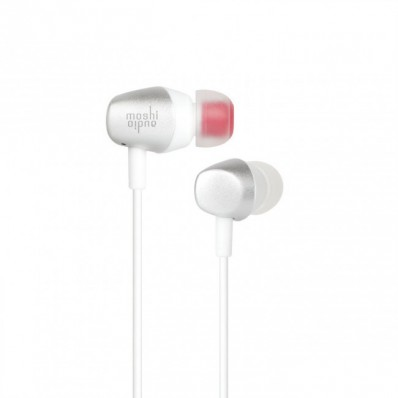 Вкладная вакуумная гарнитура Moshi Mythro Earbuds with Mic and Strap - Jet Silver