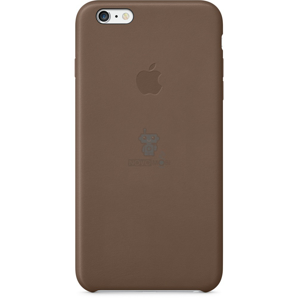 Кожаная накладка Apple Leather Case Olive Brown для iPhone 6 Plus - шоколадная