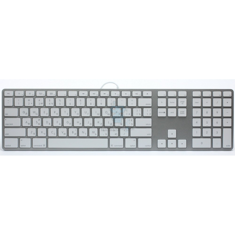 Расширенная проводная клавиатура Apple Wired Keyboard + Numeric Keypad (Раскладка - US, гравировка - RU / UA) — фото 2