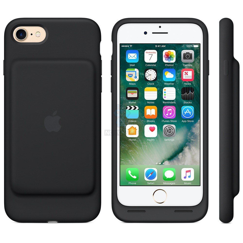 Чехол-батарея Apple Smart Battery Case Black для iPhone 7 - черная — фото 5