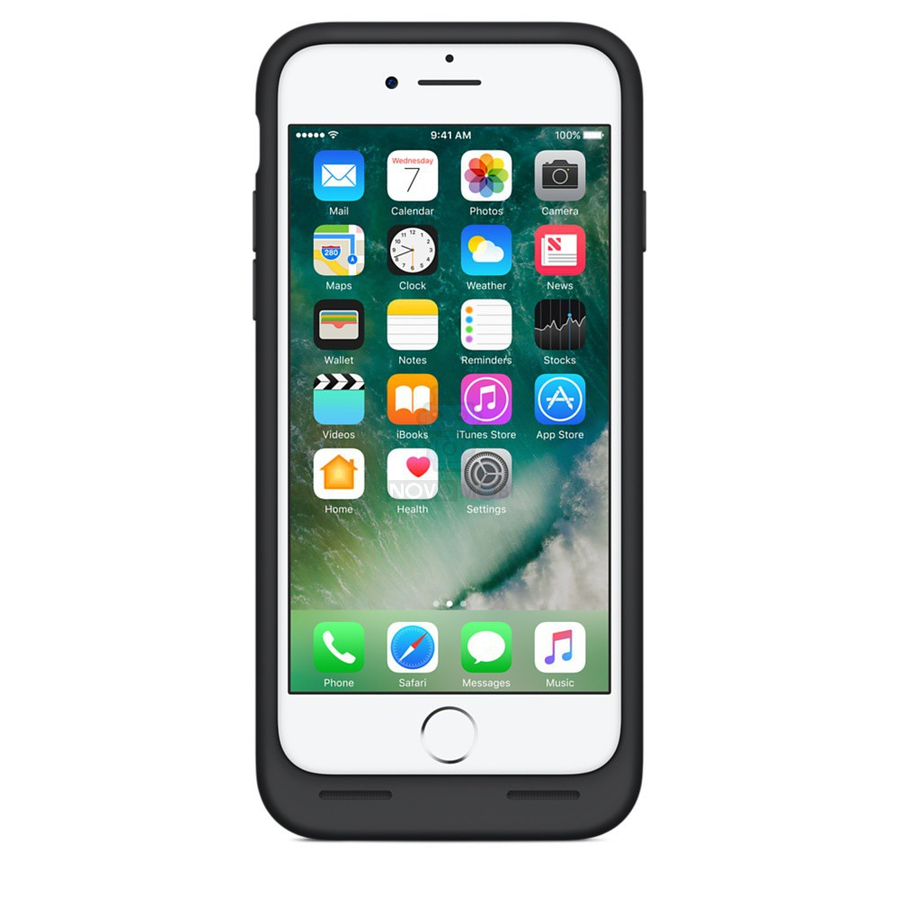 Чехол-батарея Apple Smart Battery Case Black для iPhone 7 - черная — фото 7