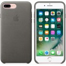 Кожаная накладка Apple Leather Case Storm Gray для iPhone 7 Plus - грозовое небо — фото 6