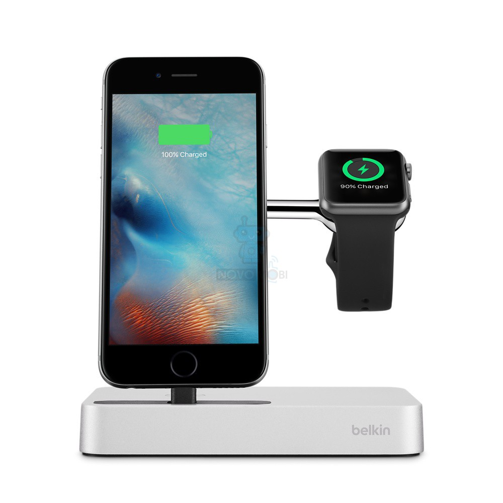 belkin Belkin Charge Dock iWatch + iPhone White (F8J183vfSLV)