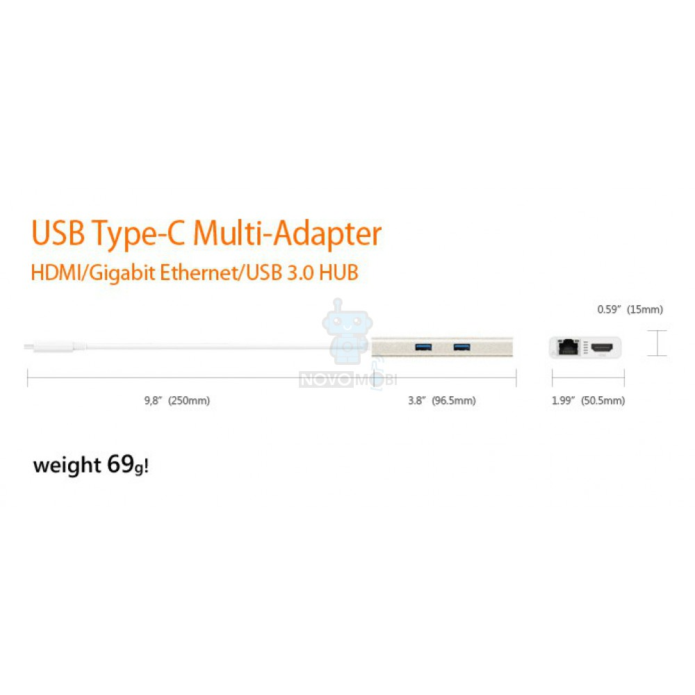 Мультиадаптер J5create USB Type-C HDMI/Ethernet/USB 3.0 HUB/PD 2.0 — фото 6
