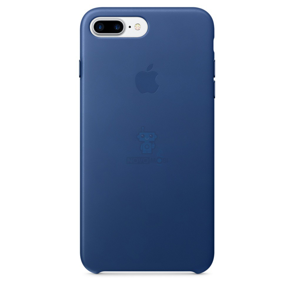 Кожаная накладка Apple Leather Case Sapphire для iPhone 7 Plus - синий сапфир