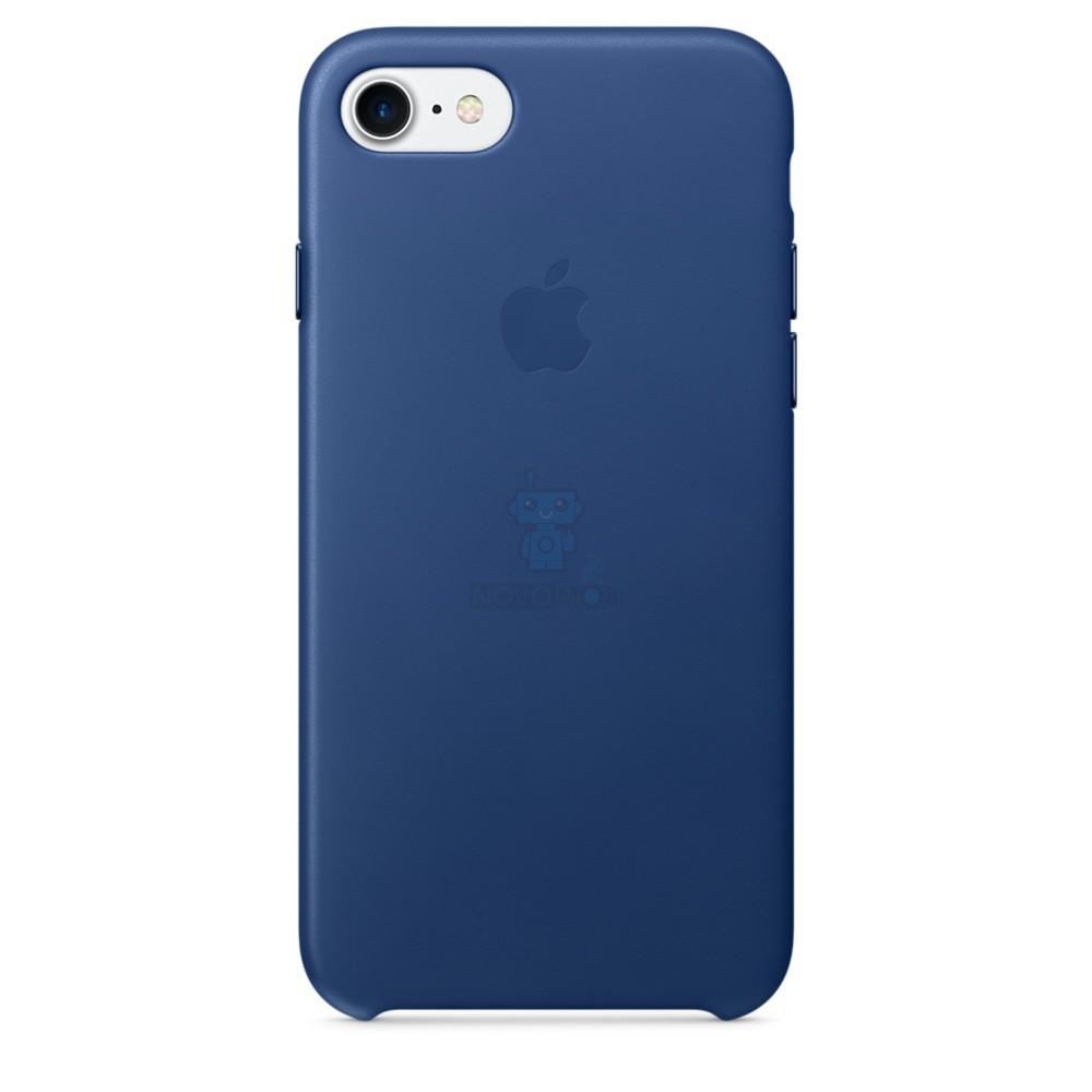 Кожаная накладка Apple Leather Case Sapphire для iPhone 7 - синий сапфир