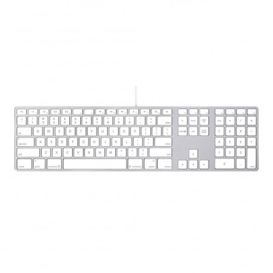 Расширенная проводная клавиатура Apple Wired Keyboard + Numeric Keypad (Раскладка - US, гравировка - RU / UA), без картонной упаковки