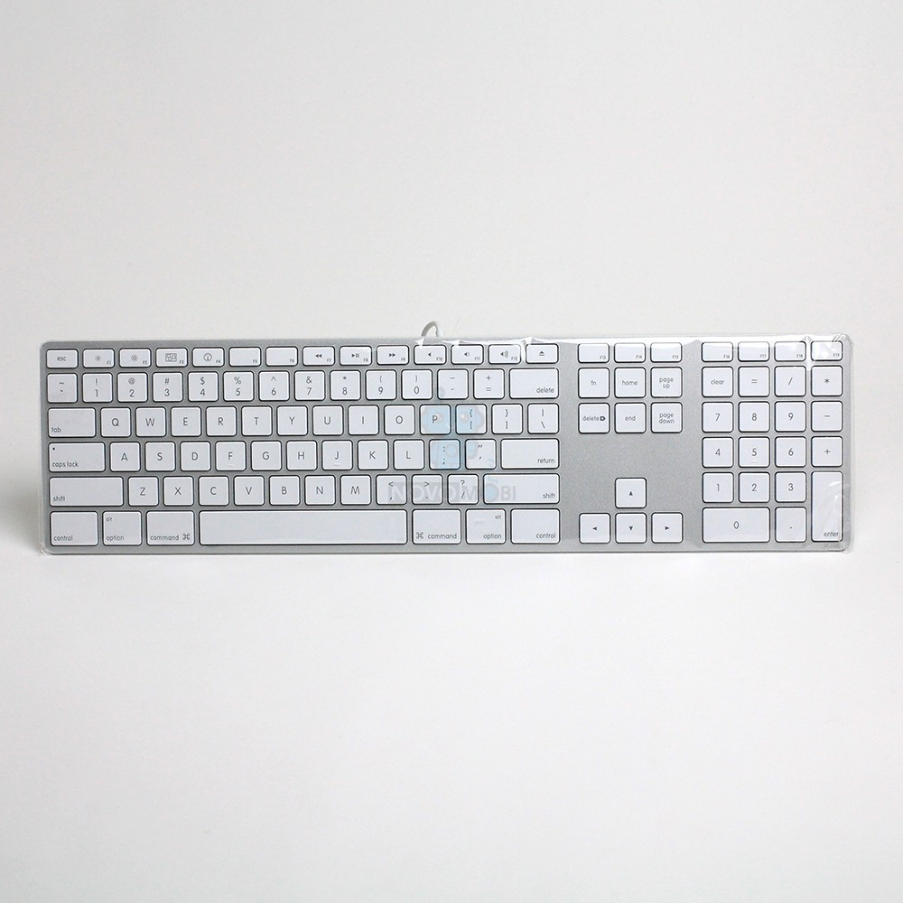 Расширенная проводная клавиатура Apple Wired Keyboard + Numeric Keypad (Раскладка - US, гравировка - RU / UA), без картонной упаковки — фото 2