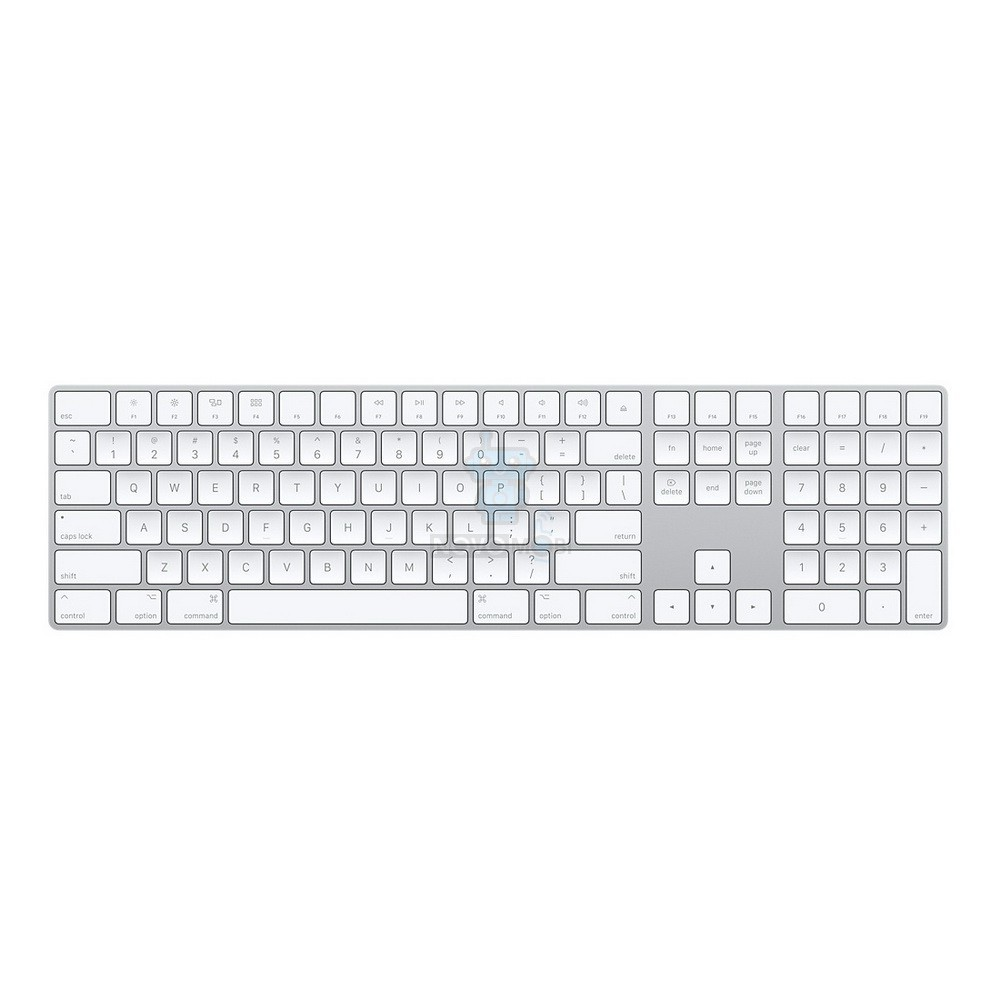 Расширенная беспроводная клавиатура Apple Magic Keyboard with Numeric Keypad (Раскладка - US, гравировка - RU / UA)