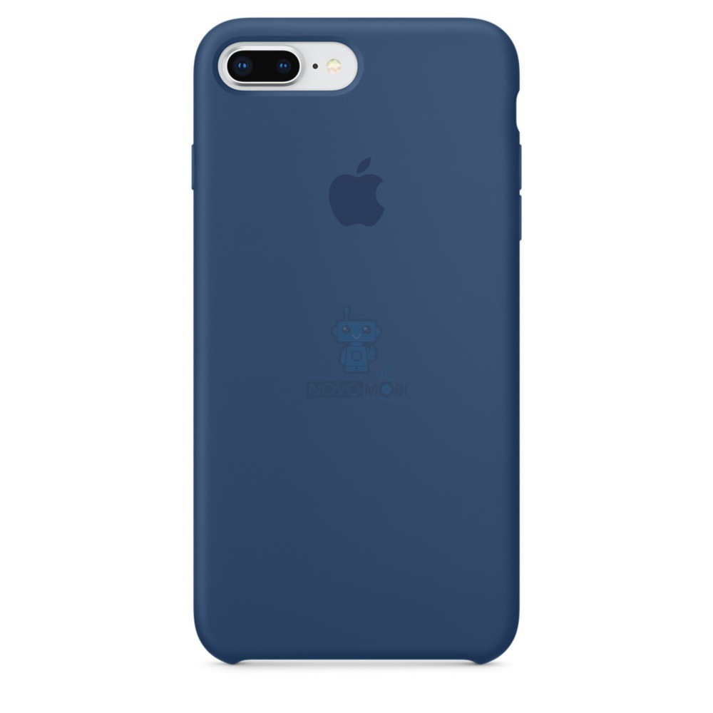 Силиконовая накладка Apple Silicone Case Blue Cobalt для iPhone 7 Plus / iPhone 8 Plus - цвет «тёмный кобальт»