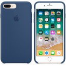 Силиконовая накладка Apple Silicone Case Blue Cobalt для iPhone 7 Plus / iPhone 8 Plus - цвет «тёмный кобальт» — фото 2