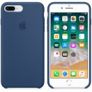 Силиконовая накладка Apple Silicone Case Blue Cobalt для iPhone 7 Plus / iPhone 8 Plus - цвет «тёмный кобальт» — фото 3