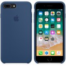 Силиконовая накладка Apple Silicone Case Blue Cobalt для iPhone 7 Plus / iPhone 8 Plus - цвет «тёмный кобальт» — фото 4