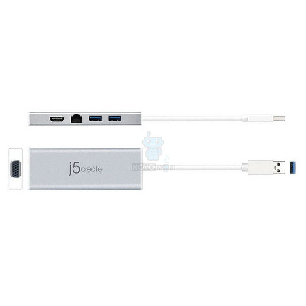 Мультиадаптер, j5create USB 3.0 Mini Docking Station (VGA / HDMI / Ethernet / USB 3.0x 2) — фото 2