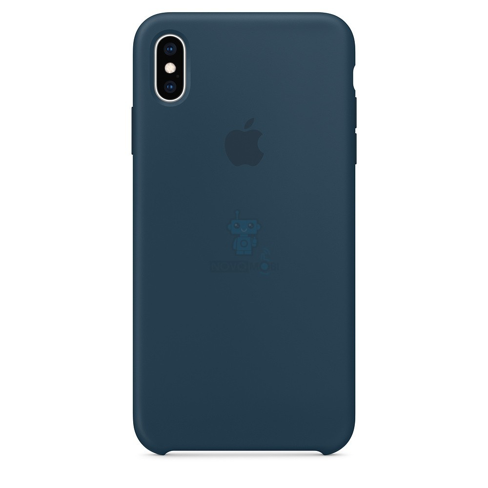 Силиконовая накладка Apple Silicone Case Pacific Green для iPhone XS Max - цвет «тихий океан»