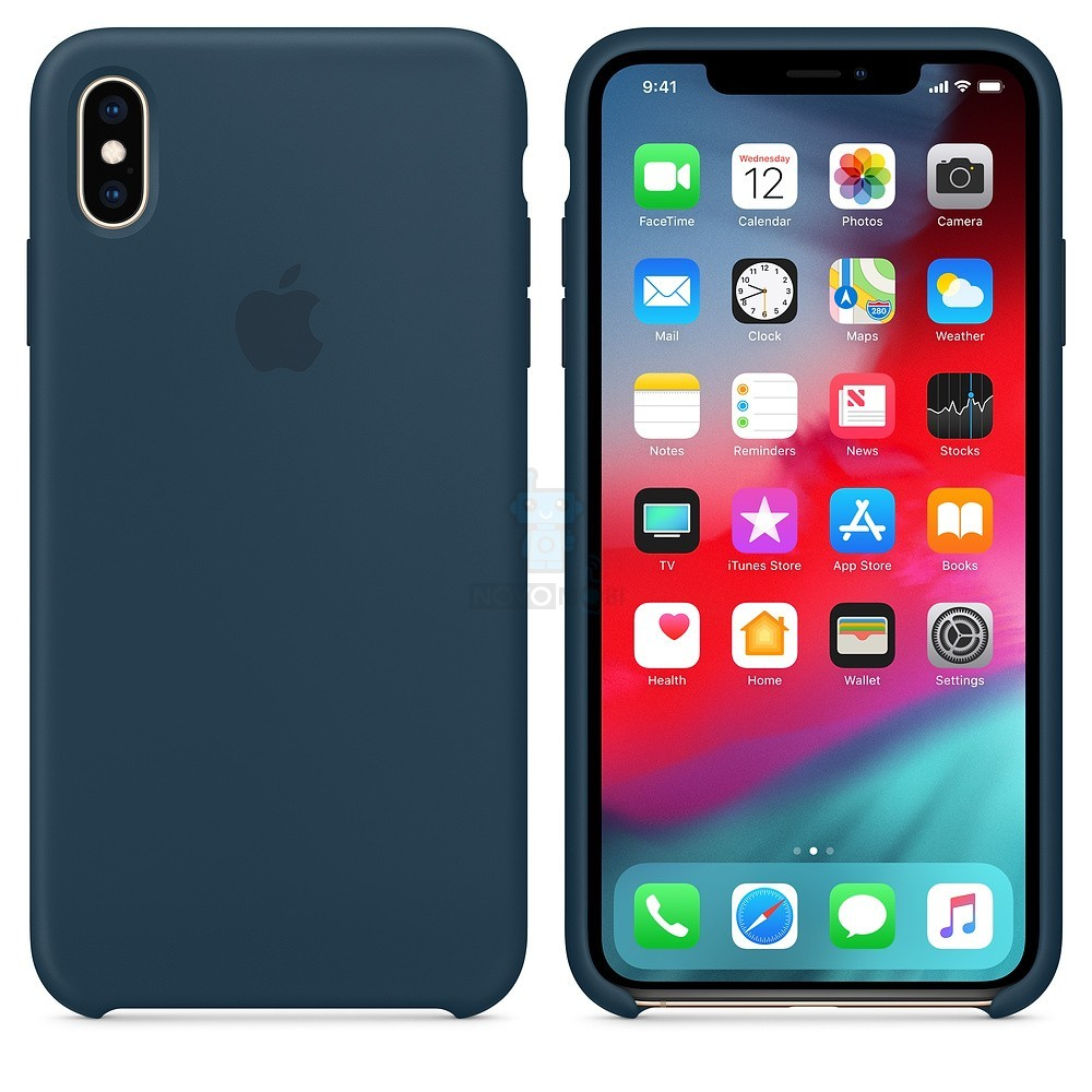 Силиконовая накладка Apple Silicone Case Pacific Green для iPhone XS Max - цвет «тихий океан» — фото 2