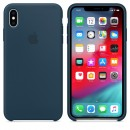 Силиконовая накладка Apple Silicone Case Pacific Green для iPhone XS Max - цвет «тихий океан» — фото 3