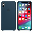 Силиконовая накладка Apple Silicone Case Pacific Green для iPhone XS Max - цвет «тихий океан» — фото 4