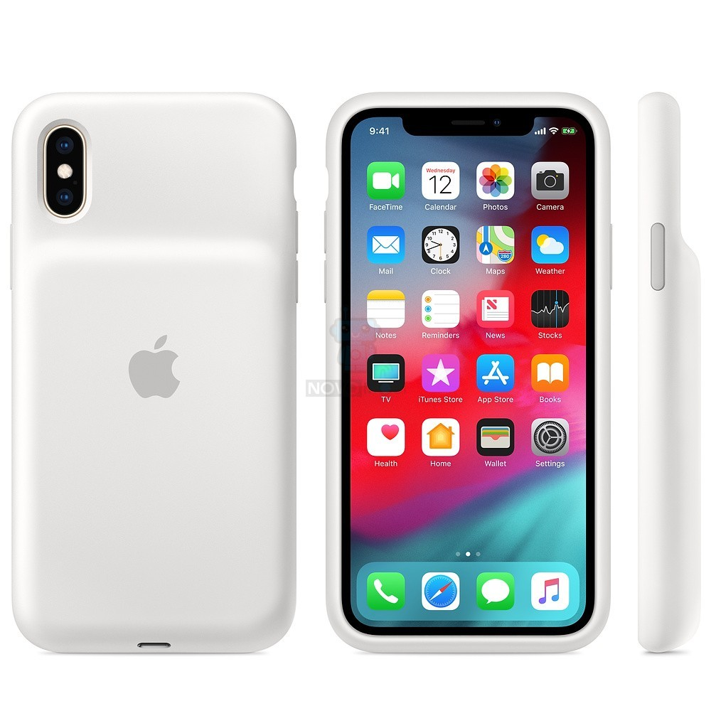 Чехол-батарея Apple Smart Battery Case White для iPhone XS - белая — фото 2