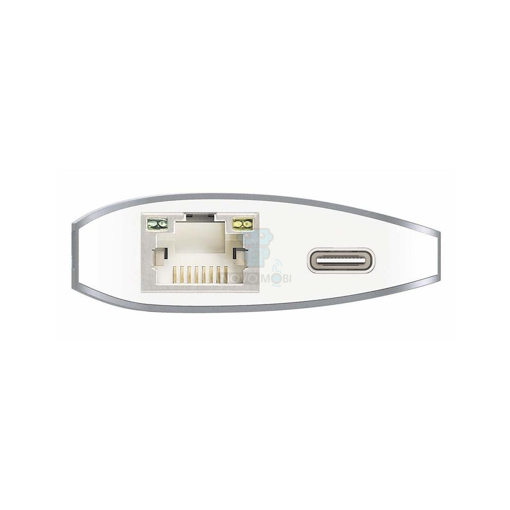 Порт-репликатор в алюминиевом корпусе, j5create USB Type-C Multi Adapter (HDMI; SD/ microSD CardReader; USB 3.1x 1; USB 3.0x 2; USB-C Transfer; Gigabit Ethernet) - серебряный — фото 3