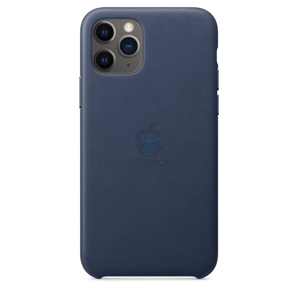 Кожаная накладка Apple Leather Case Midnight Blue для iPhone 11 Pro - тёмно-синего цвета