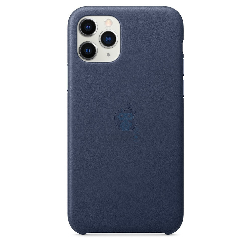 Кожаная накладка Apple Leather Case Midnight Blue для iPhone 11 Pro - тёмно-синего цвета — фото 2