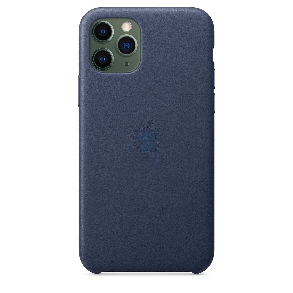 Кожаная накладка Apple Leather Case Midnight Blue для iPhone 11 Pro - тёмно-синего цвета — фото 3