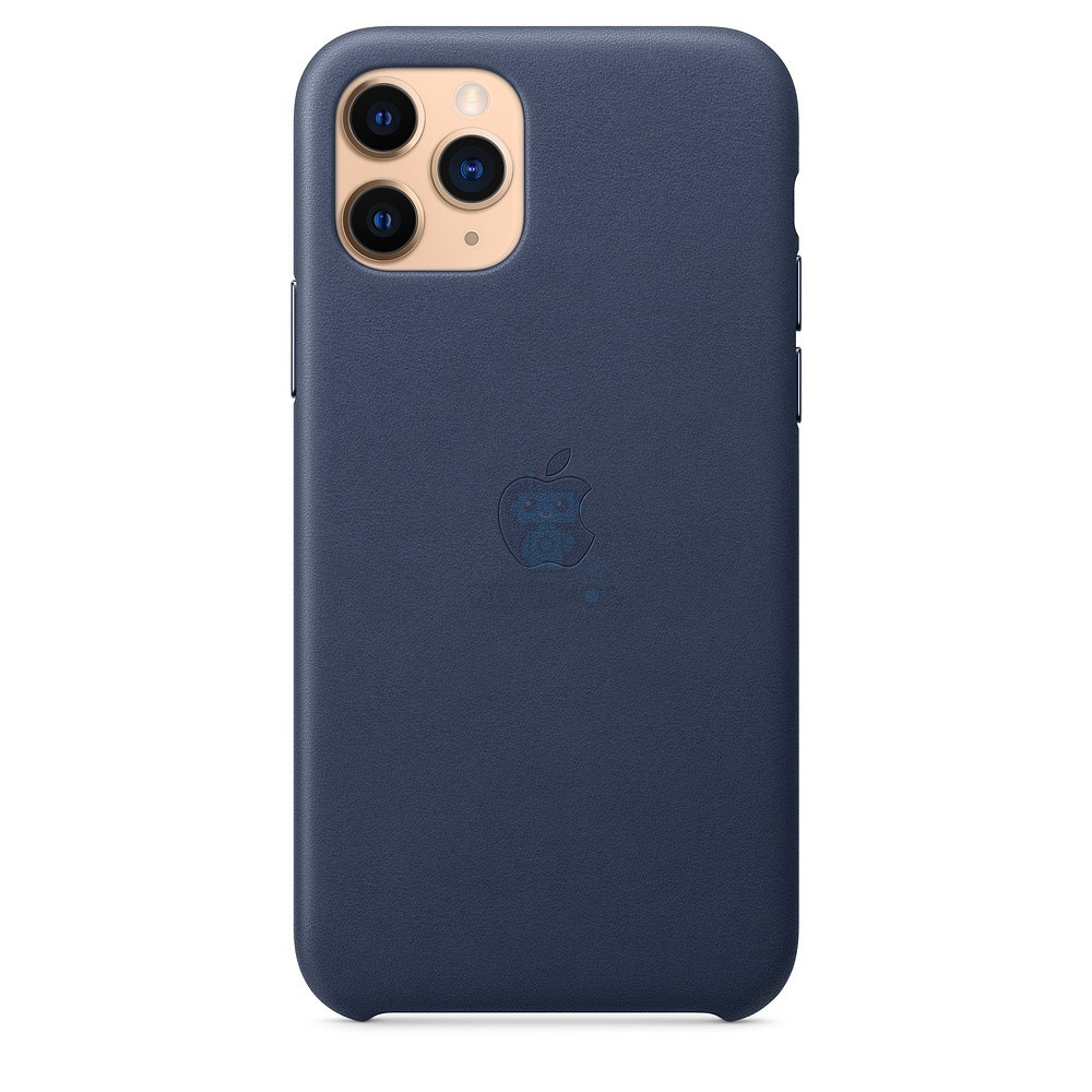 Кожаная накладка Apple Leather Case Midnight Blue для iPhone 11 Pro - тёмно-синего цвета — фото 4