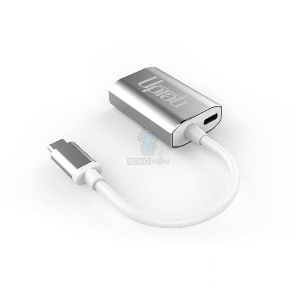 Адаптер для подключения Apple LED Cinema Display к MacBook / iMac с USB-C разъемами, UPTab USB 3.1 Type-C в mini DisplayPort + Power Delivery - серебряный (4K / 60Hz) — фото 2